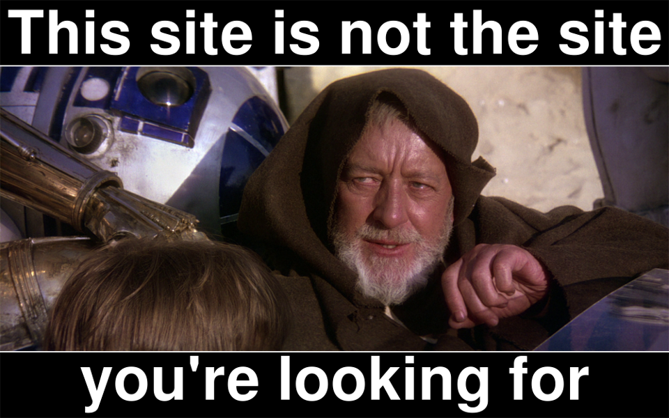 Not the site you're looking for